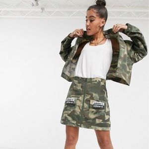 Adidas Patch Pocket Skirt in Camo
